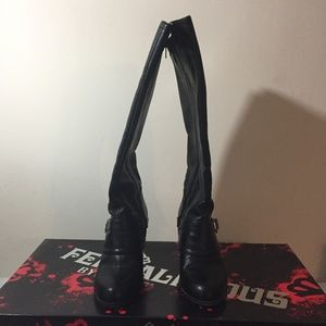Fergalicious tall boots by Fergie size 6